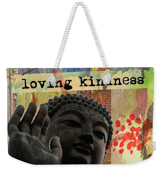 Loving Kindness. Buddha Weekender Tote Bag
