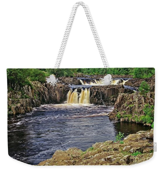 Low Force Waterfall, Teesdale, North Pennines Weekender Tote Bag