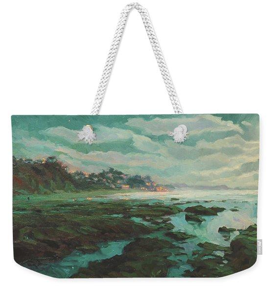 Low Tide At Moonlight Weekender Tote Bag