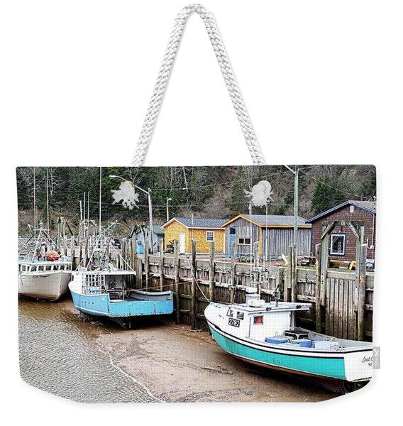 Low Tide In St. Martins Weekender Tote Bag