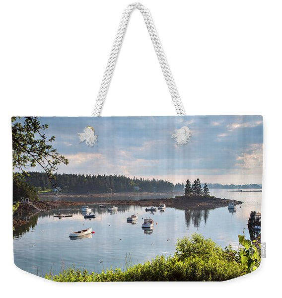 Weekender Tote Bag featuring the photograph Low Tide, Port Clyde, Maine #8507 by John Bald