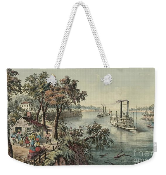 Low Water In The Mississippi, 1868  Weekender Tote Bag
