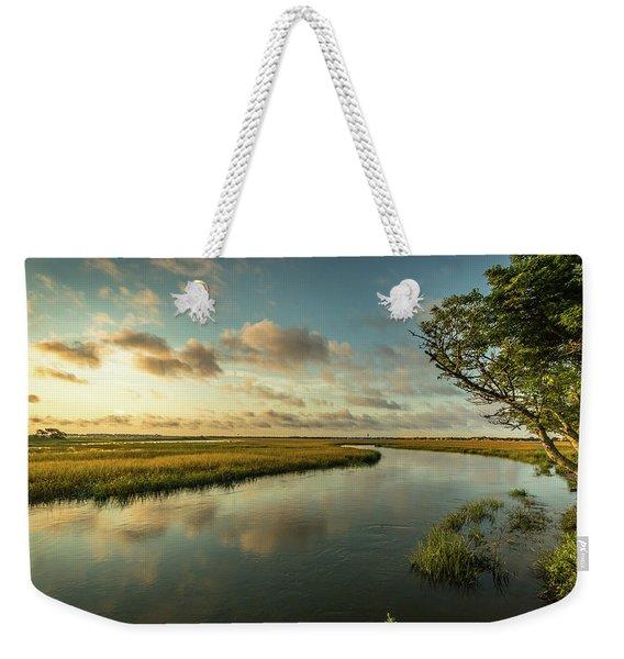 Pitt Street Bridge Creek Sunrise Weekender Tote Bag
