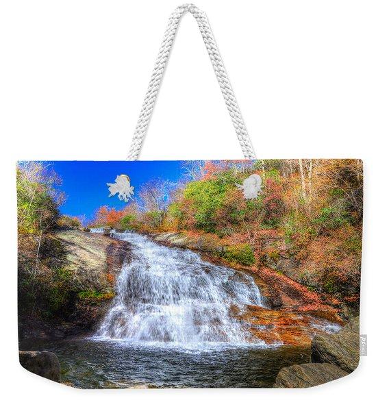 Lower Falls At Graveyard Fields Weekender Tote Bag