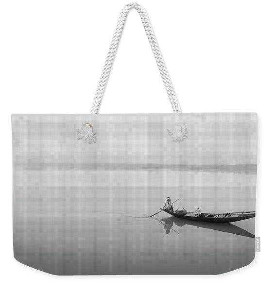 Lower Ganges - Misty Morinings Weekender Tote Bag