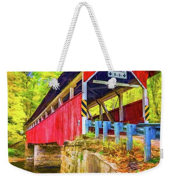 Lower Humbert Covered Bridge 2 - Paint 2 Weekender Tote Bag