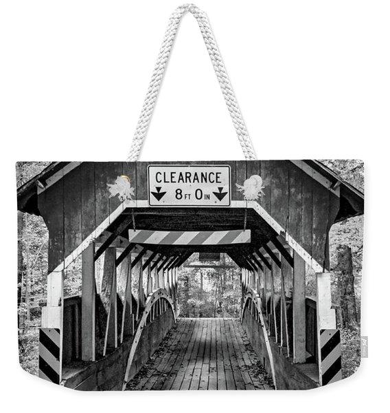 Lower Humbert Covered Bridge 5 Bw Weekender Tote Bag