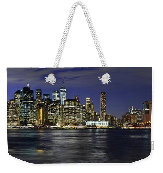 Lower Manhattan From Brooklyn Heights At Dusk - New York City Weekender Tote Bag