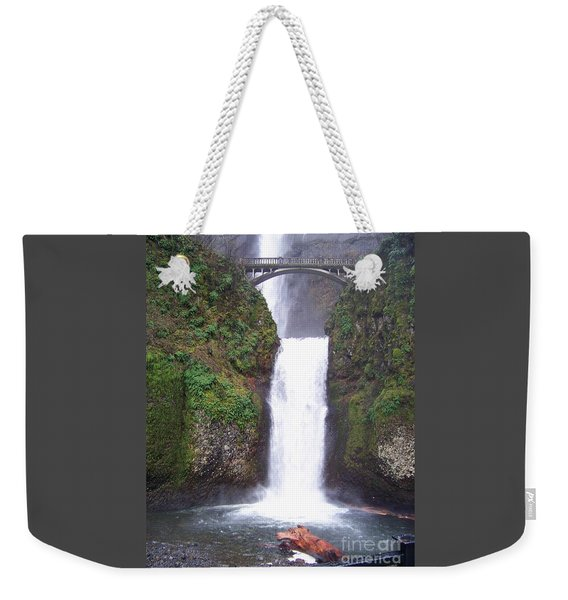 Lower Multnomah Falls Weekender Tote Bag