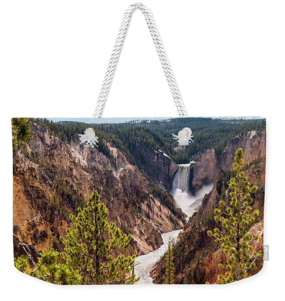 Lower Yellowstone Canyon Falls 5 - Yellowstone National Park Wyoming Weekender Tote Bag