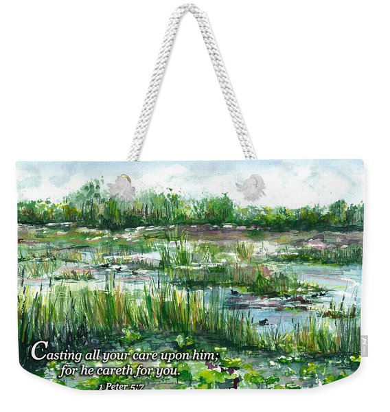 Loxahatchee Marsh 1 Peter 5 Weekender Tote Bag