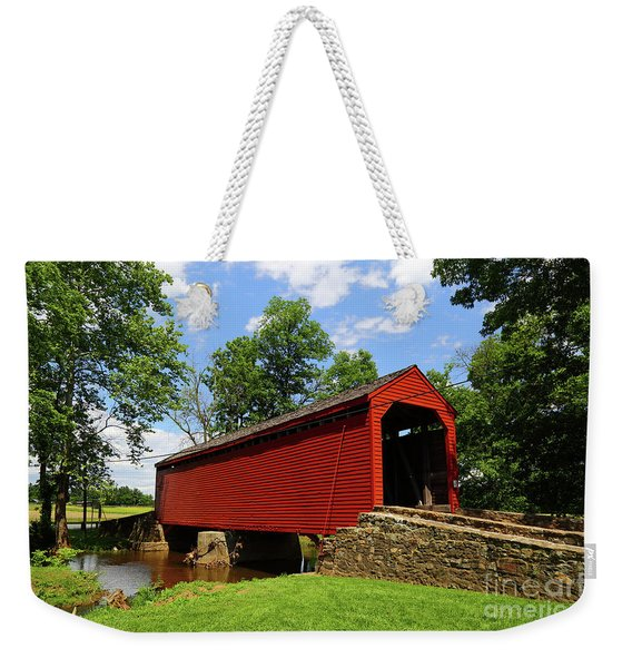 Loys Station Covered Bridge Frederick County Maryland Weekender Tote Bag