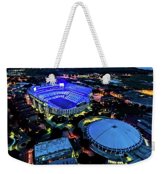 Lsu Tiger Stadium Supports Law Enforcement Weekender Tote Bag