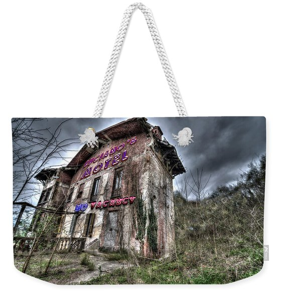 Luciano's Motel Weekender Tote Bag