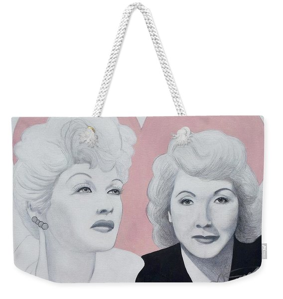 Lucille And Vivian Weekender Tote Bag