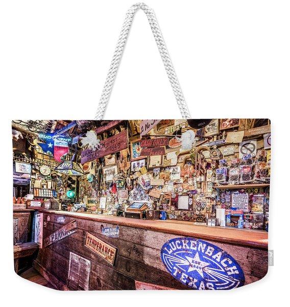 Luckenbach Bar Weekender Tote Bag