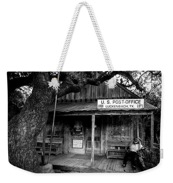 Luckenbach Texas Weekender Tote Bag