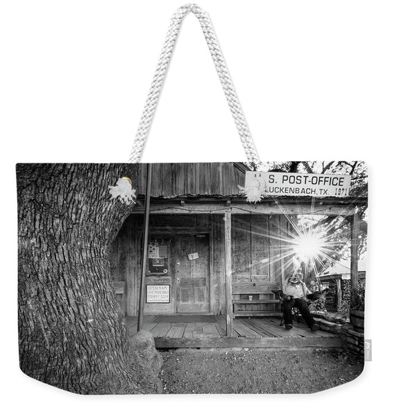 Luckenbach, Texas, Post Office In Black And White Weekender Tote Bag