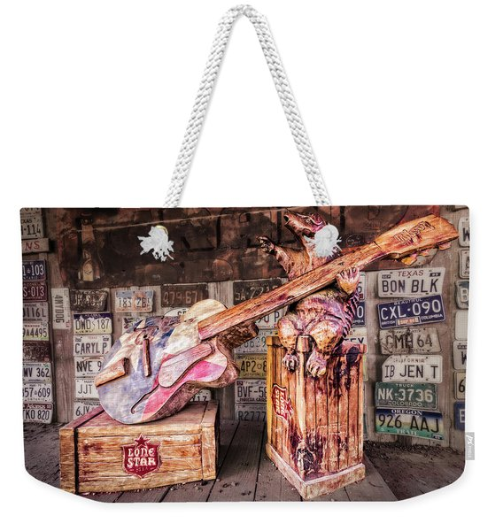 Luckenbach's Guitar-playing Armadillo Weekender Tote Bag