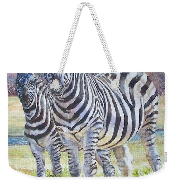 Lucky Stripes Weekender Tote Bag