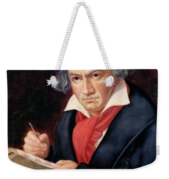 Ludwig Van Beethoven Composing His Missa Solemnis Weekender Tote Bag