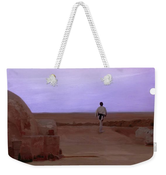Luke Skywalker Tatooine Sunset Weekender Tote Bag