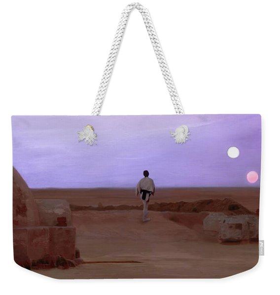 Luke Skywalker Tatooine Sunset Weekender Tote Bag