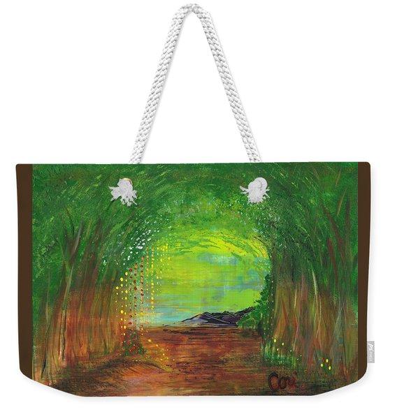 Luminous Path Weekender Tote Bag
