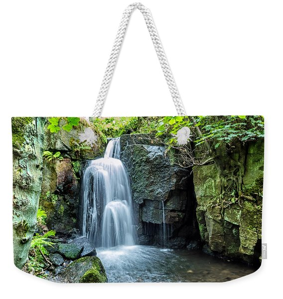 Weekender Tote Bag featuring the photograph Lumsdale Falls by Nick Bywater