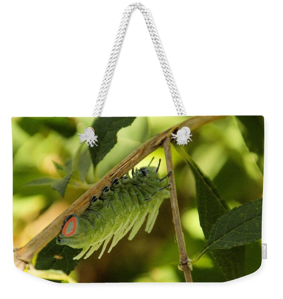 Luna Moth Caterpillar Upside Down  Weekender Tote Bag