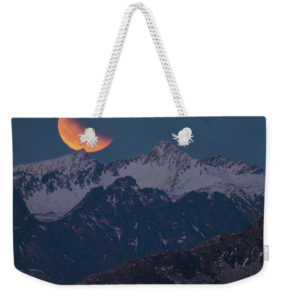 Lunar Eclipse In Lofoten Weekender Tote Bag