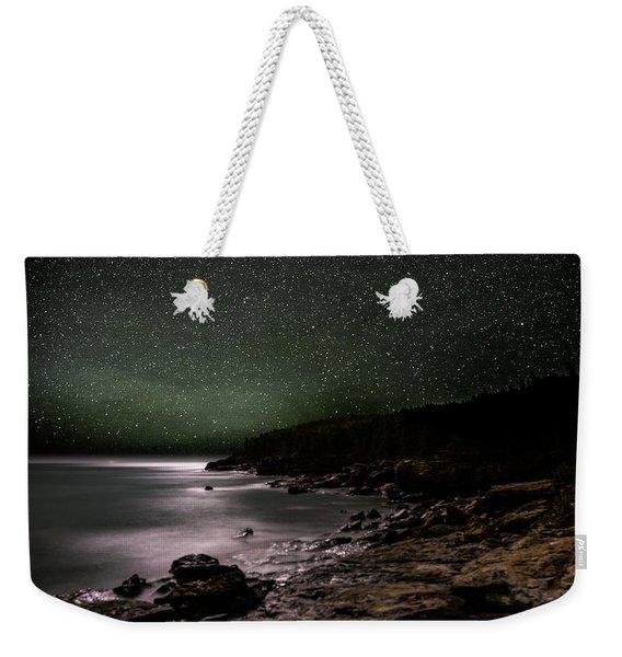 Lunar Eclipse Over Great Head Weekender Tote Bag