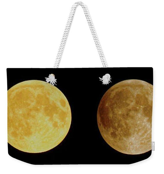 Lunar Eclipse Progression Weekender Tote Bag