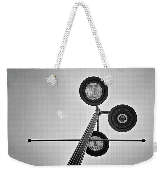 Lunar Lamp In Black And White Weekender Tote Bag