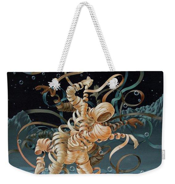 Lunar Tango In Space And Time Weekender Tote Bag