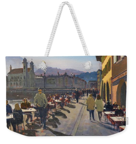 Lunchtime In Luzern Weekender Tote Bag