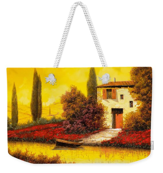 Lungo Il Fiume Tra I Papaveri Weekender Tote Bag