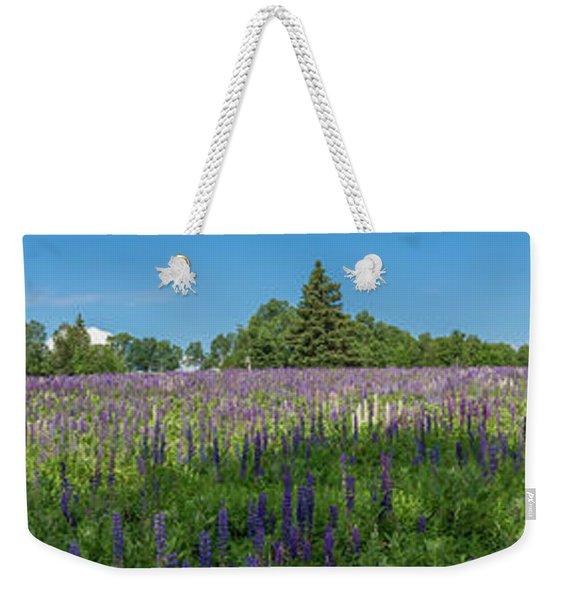 Lupine Field Weekender Tote Bag