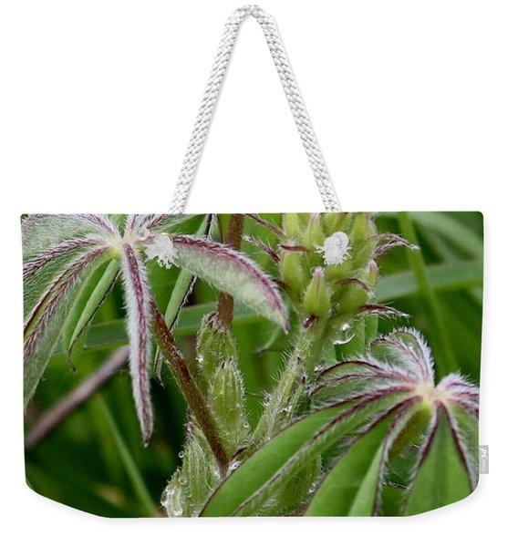 Lupine Bud Weekender Tote Bag