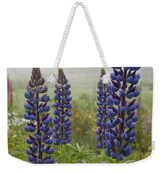 Lupine In The Fog Weekender Tote Bag
