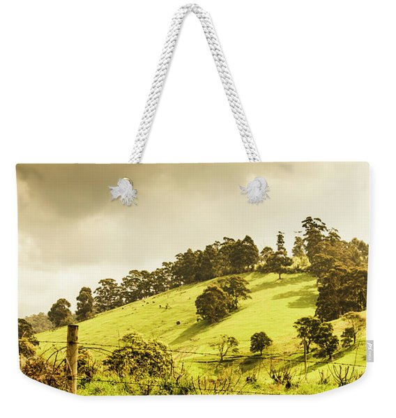 Lush Green Country Farmland Weekender Tote Bag