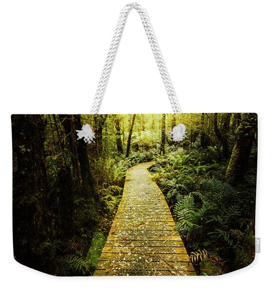 Lush Green Rainforest Walk Weekender Tote Bag