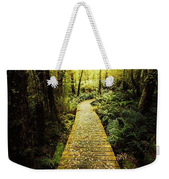 Lush Green Rainforest Walk Weekender Tote Bag