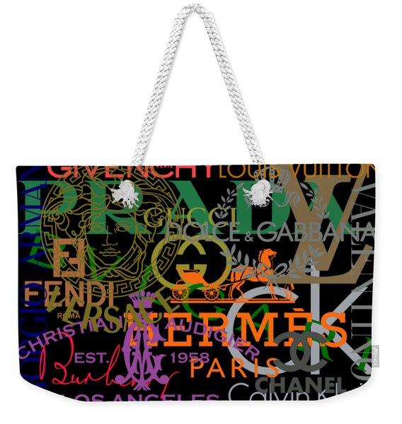 Luxury Fashion Weekender Tote Bag