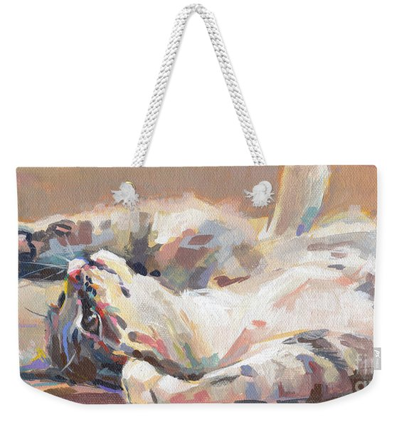 Lying In Wait Weekender Tote Bag