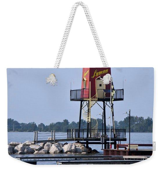 Lyman Harbor Lighthouse Weekender Tote Bag