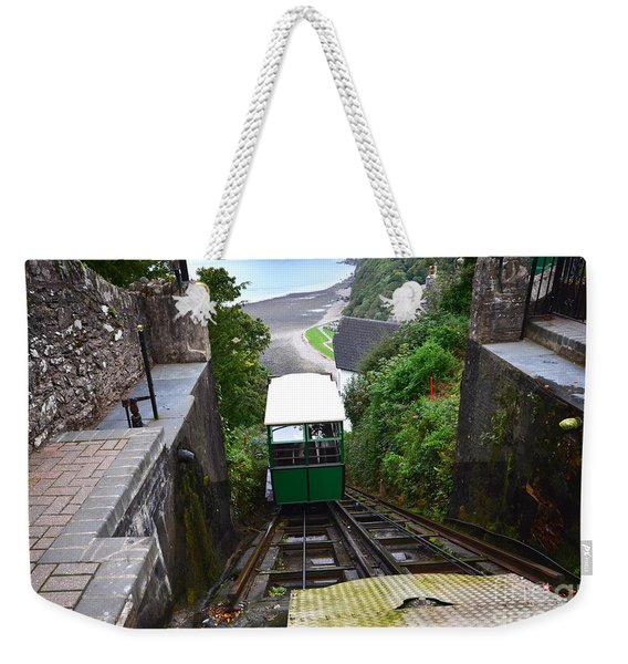 Lynton And Lynmouth Cliff Railway Weekender Tote Bag