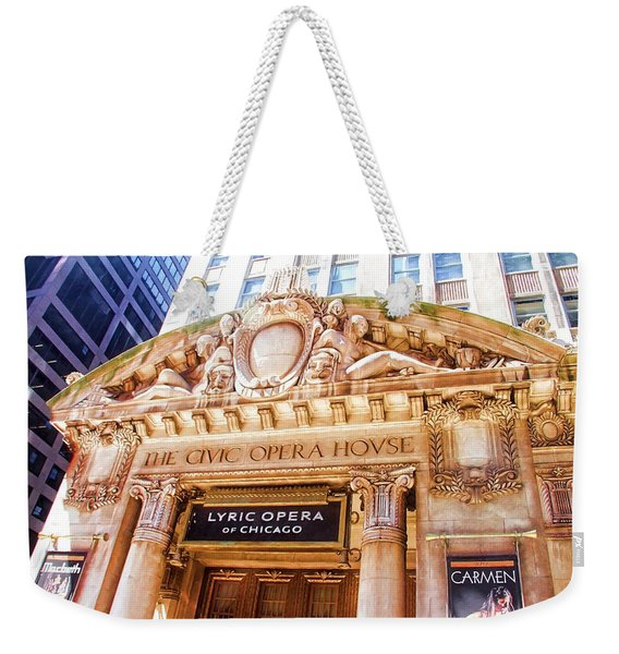 Lyric Opera Of Chicago Weekender Tote Bag