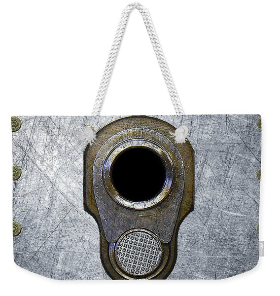 M1911 45 Framed With 45 Case Heads Weekender Tote Bag