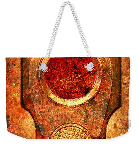 M1911 Muzzle On Rusted Background - With Red Filter Weekender Tote Bag